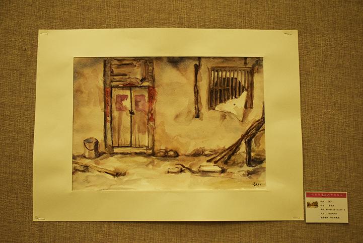 我院学生水粉风景写生作品展顺利开幕